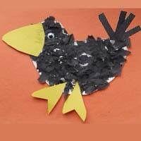 Ein bisschen wirr sieht er aus, der kleine Rabe, aber umso charmanter :) #vogel #basteln