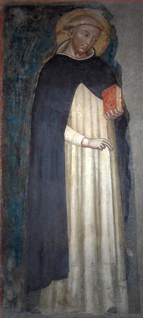 San Domenico82 - Rooms-Katholieke Kerk - Fresco met de oudste bekende afbeelding van Dominicus, 14e eeuw, San Domenico, Bologna.