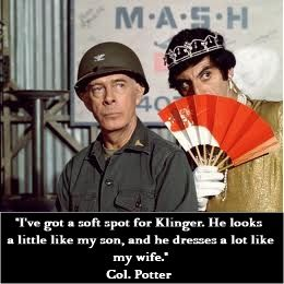 M*A*S*H Col. Potter and Klinger