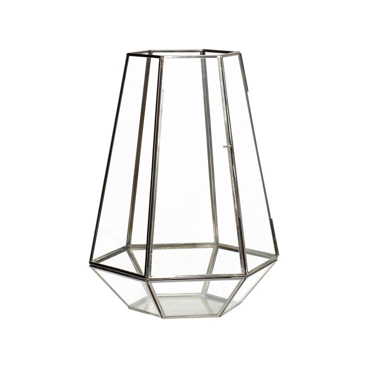 Black glass lantern. Product number: 670334 - Designed by Hübsch