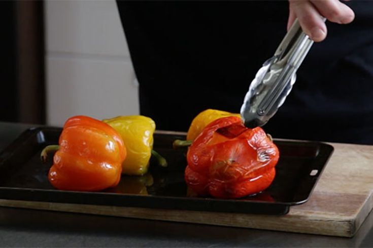 Ray McVinnie takes us through the simple steps of roasting whole capsicum and removing the skin.