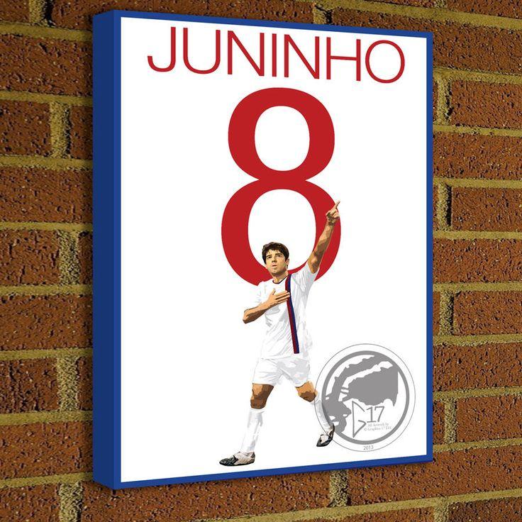 Juninho  Canvas Print  France Soccer Star - Pick Your Size, poster, art, wall decor, home decor, canvas, la liga, RMFC by Graphics17 on Etsy