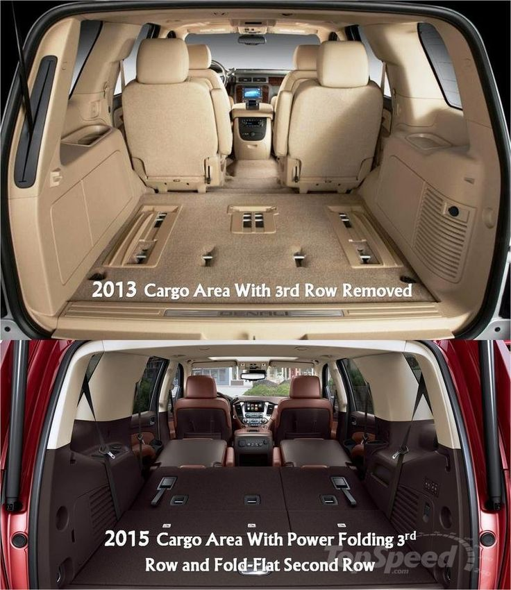2015 GMC Yukon Denali...no more pulling out seats, just fold them flat in the new Yukon..I'm so excited!