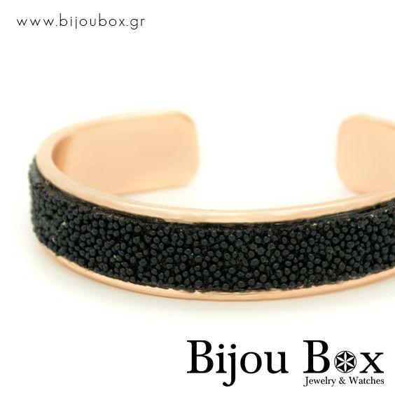 Bangle bracelet from rose gold plated bronze and rhinestones ULI Βραχιόλι από ροζ επίχρυσο μπρούτζο με ζιργκόν ULI  Check out now... www.bijoubox.gr #BijouBox #Bracelet #Βραχιόλι #Handmade #Χειροποίητο #Greece #Ελλάδα #Greek #Κοσμήματα #MadeinGreece #RedGold #jwlr #Jewelry