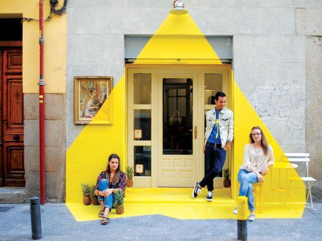 Желтая лампа: интересное оформление фасада — HD INTERIOR