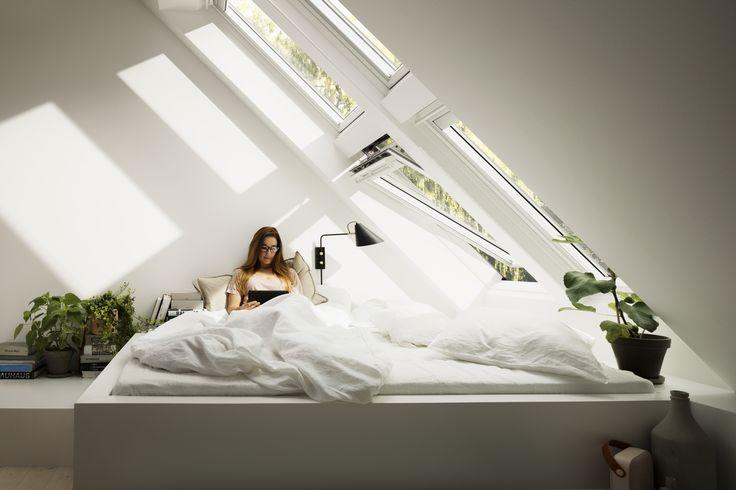 VELUX CABRIO™ Vom Dachfenster zum Dachaustritt Dachfenster - dachfenster balkon cabrio interieur