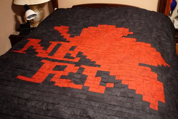 Queen Sized Nerv Quilt Comforter by 8bitHealey on Etsy, $180.00