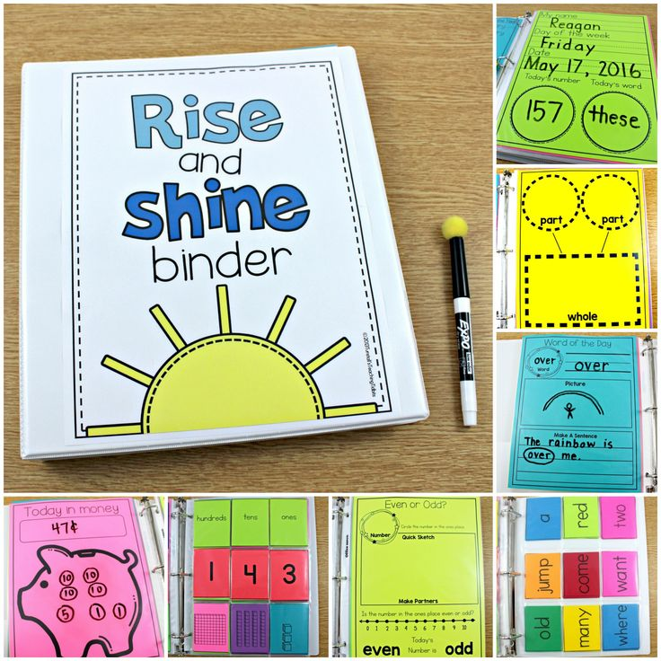 the rise and shine binder, turn chaos to calm, write-on wipe-off self-paced activities, the rise and shine binder reagan tunstall