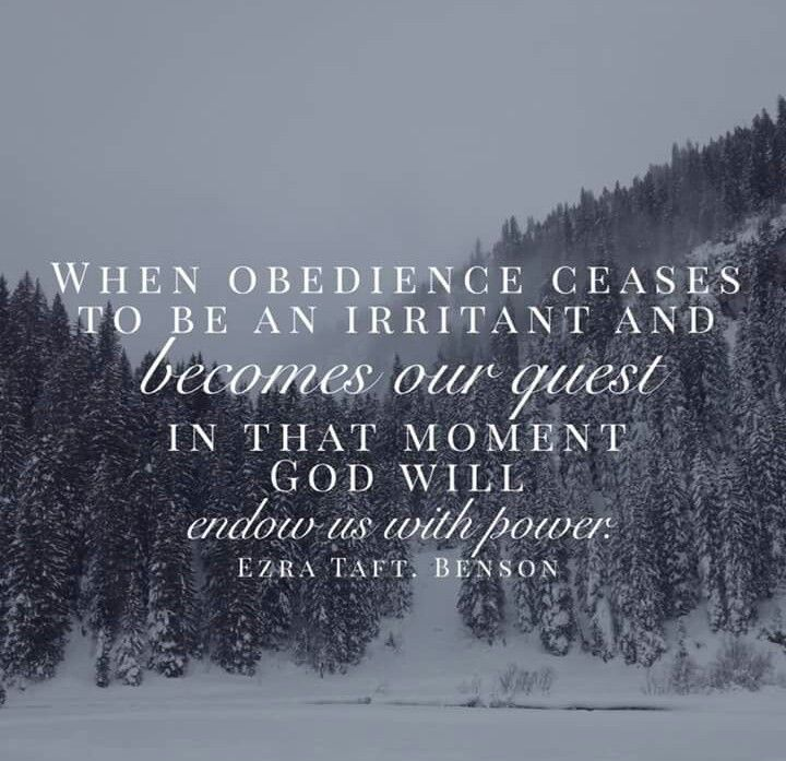 Ezra Taft Benson spiritual power obedience lds