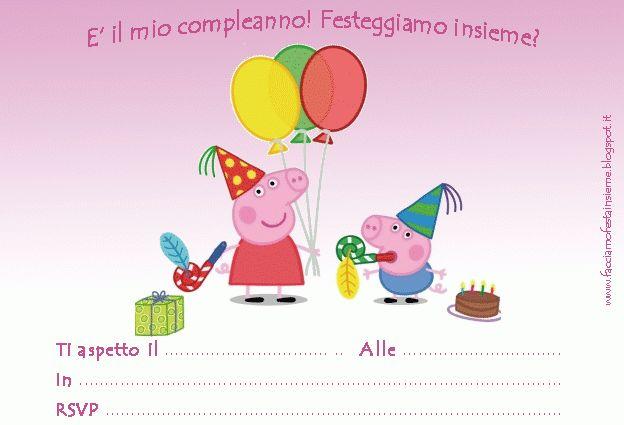 Inviti di compleanno Peppa Pig ~ Facciamo festa insieme