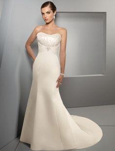 Белое русалочка простое свадебное платье со шлейфом открытая спина зимнее