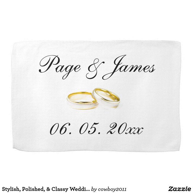 Stylish, Polished,  Classy Wedding Rings Kitchen Towel -3095