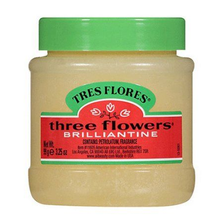 Three Flowers Brilliantine Hair Styling Pomade, Solid, 3.2 Oz, Multicolor