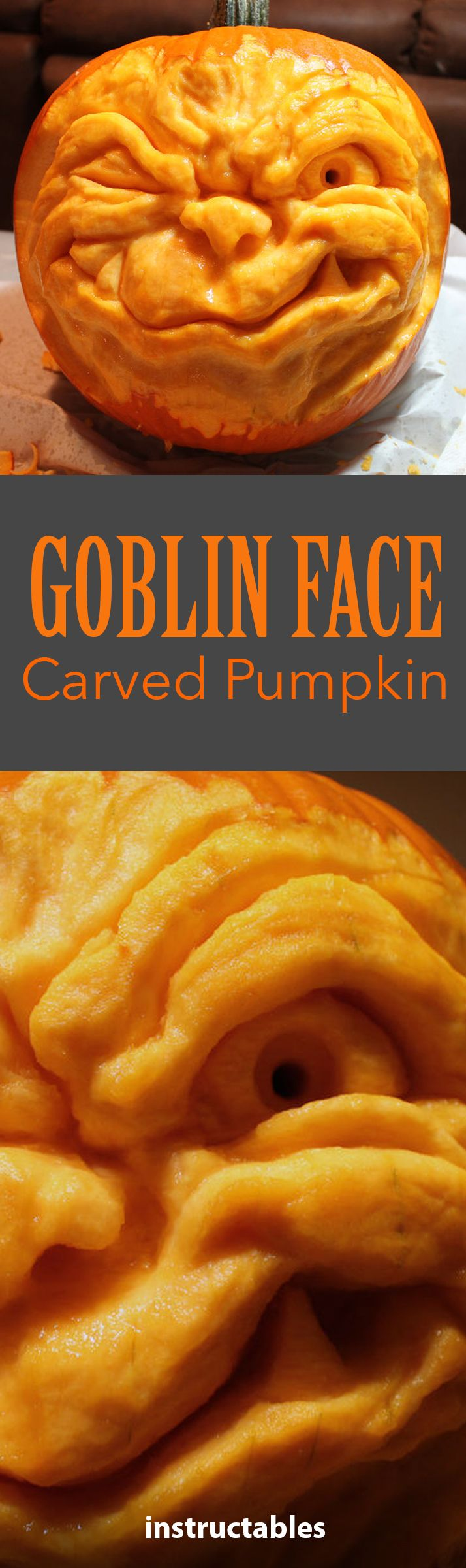 25 best ideas about halloween spook records sleepy how to sculpt a goblin face into a pumpkin