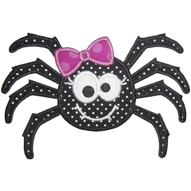 Cute Girl Spider Applique