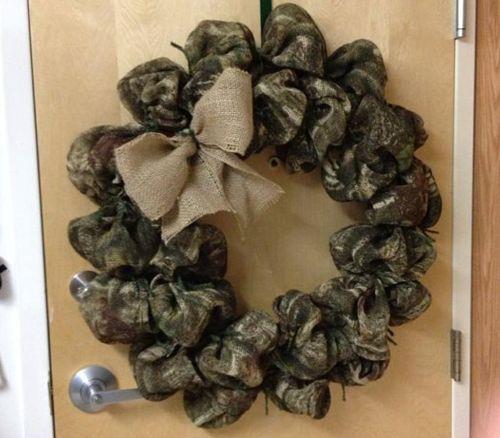 Camo Christmas wreath