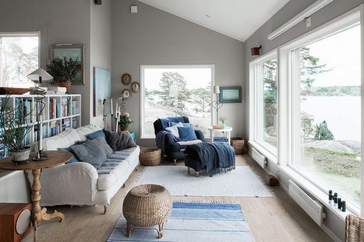 Casa de verano sueca con muelle privado mars blog and for Decoracion casa verano