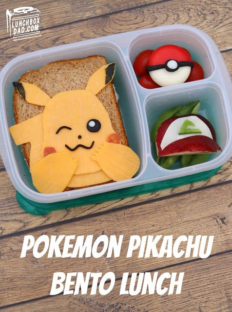 How to make a Pokémon Pikachu Bento Lunch for your kids!