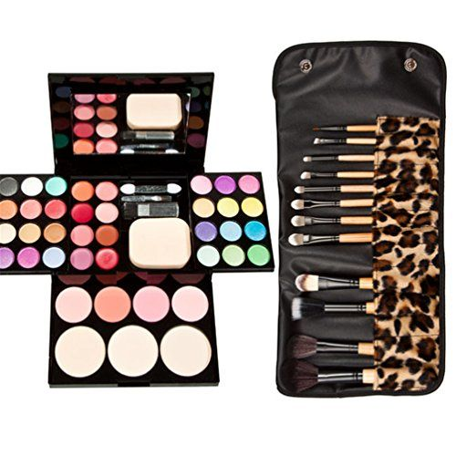 Meritina Professional Makeup Palette Makeup Set with 12pcs Makeup Brush >>> Check out the image by visiting the link.