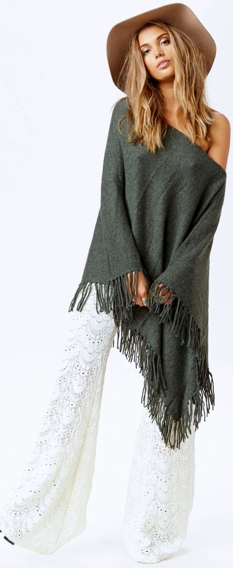 Bohemian - ABSOLUTELY LOVE WHAT SHE IS WEARING!! - THE SHADE OF GREY IS FABULOUS!!