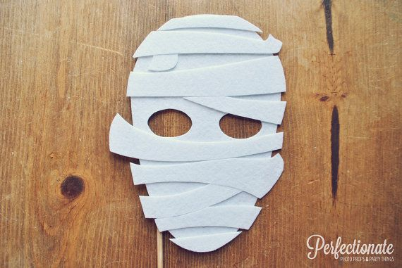 Mummy Photo Prop on a Stick // Halloween Mask on by Perfectionate, $12.00