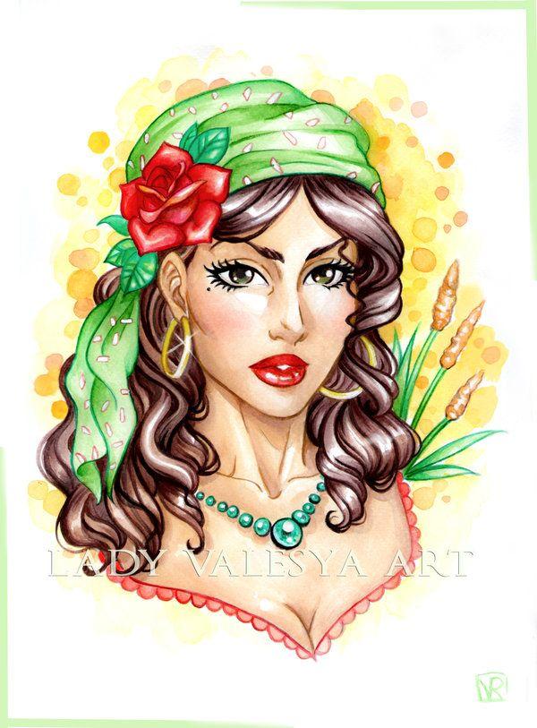 Esmeralda the Gipsy by Lady-Valesya.deviantart.com on @DeviantArt