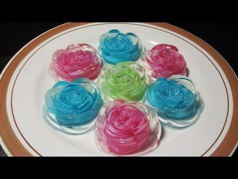 How to make Thai Rose Jelly for Valentine's Day | วุ้นกุหลาบแก้ว (English audio) - YouTube