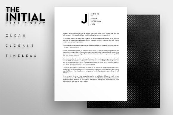 The Initial - Letterhead Template by SOCALARTS on @creativemarket