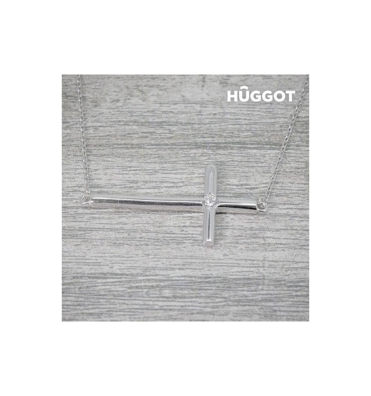 Découvrez Collier en Argent Massif 925 et Zirconites Cross Hûggot (45 cm) de la nouvelle collection de bijoux fantaisie Hûggot ! Une large gamme de bagues, bracelets, boucles d'oreilles, colliers, ...