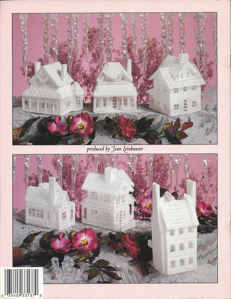 Victorian Ice Village Plastic Canvas by KnitKnacksCreations