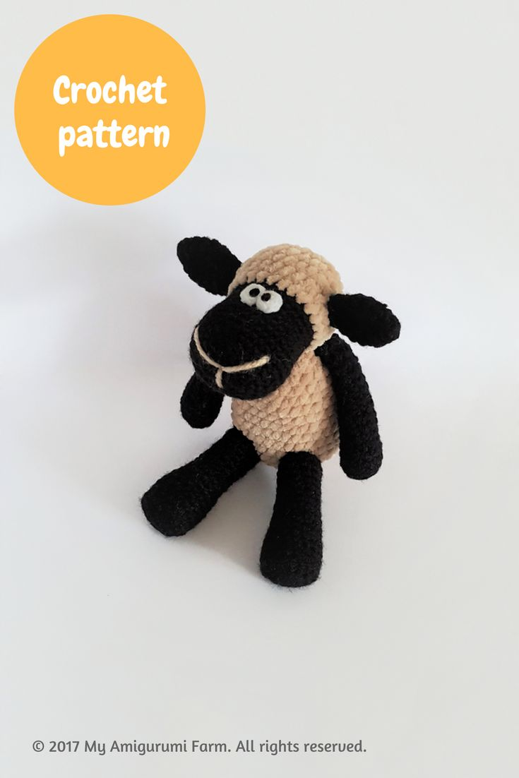 Crochet fluffy sheep amigurumi pattern