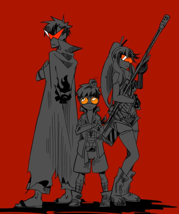 Simon, Kamina and Yoko Littner (also Boota)