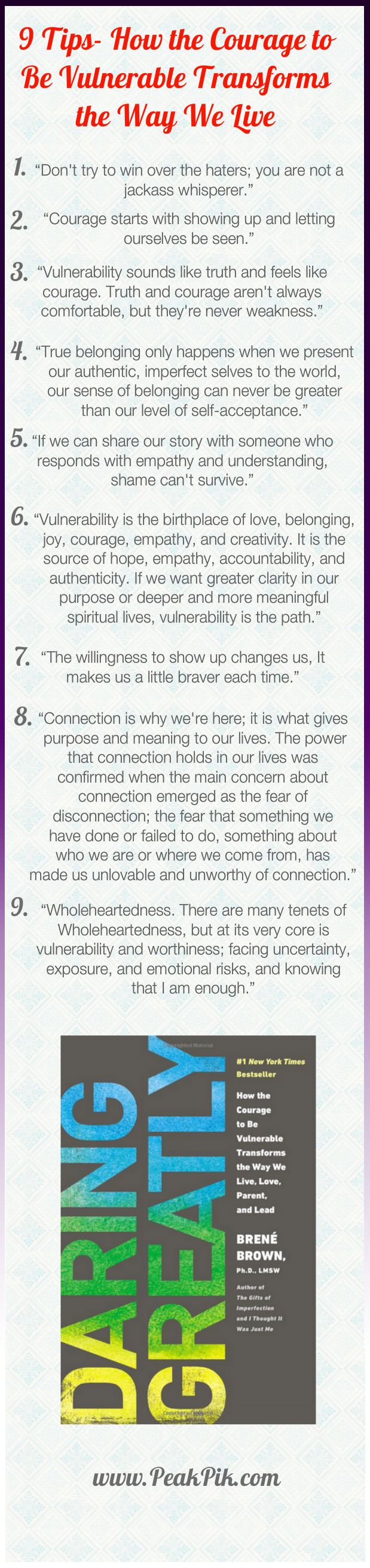 Daily Tips And Motivation | 9 Tips- How the Courage to  Be Vulnerable Transforms  the Way We Live