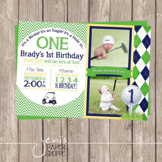 Hey, I found this really awesome Etsy listing at https://www.etsy.com/listing/202035832/hole-in-one-birthday-invitation