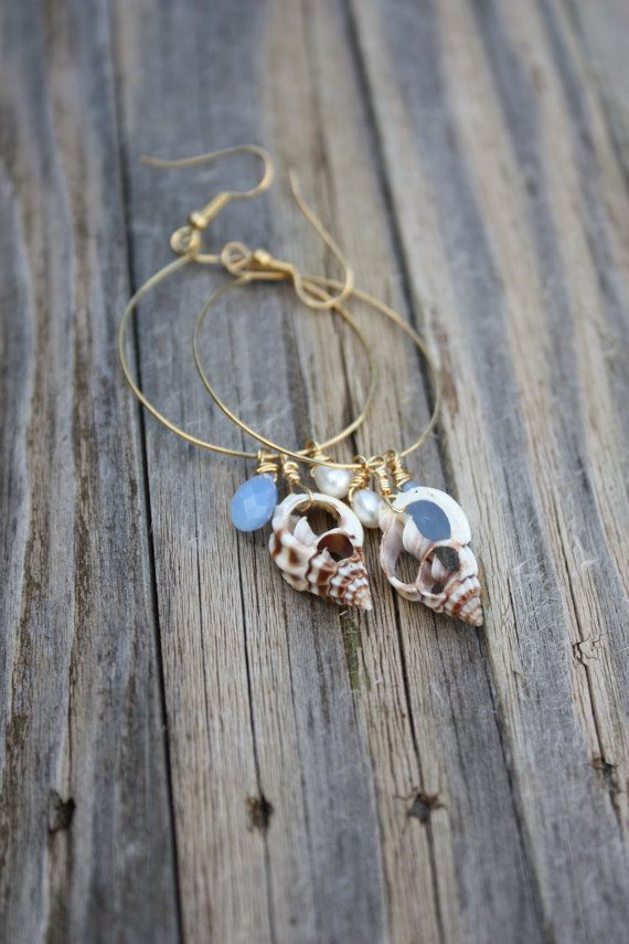 Exhibition Shell Necklace : Best ideas about shell earrings on pinterest