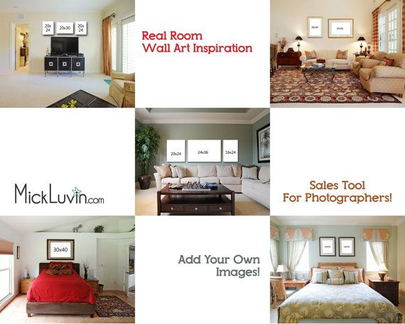 5 photoshop templates of real rooms for upselling your photos real