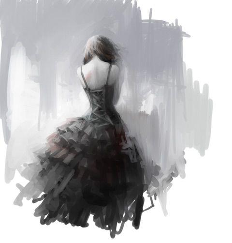 Image via We Heart It https://weheartit.com/entry/154868584 #alone #anime #animegirl #art #beautiful #black #cool #dark #Darkness #dress #monochrome #animeart #少しイングリッド