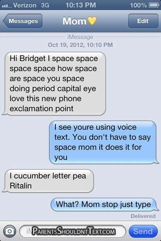 12 Funniest 'Parents Shouldn't Text' Messages of 2012 - so funny!