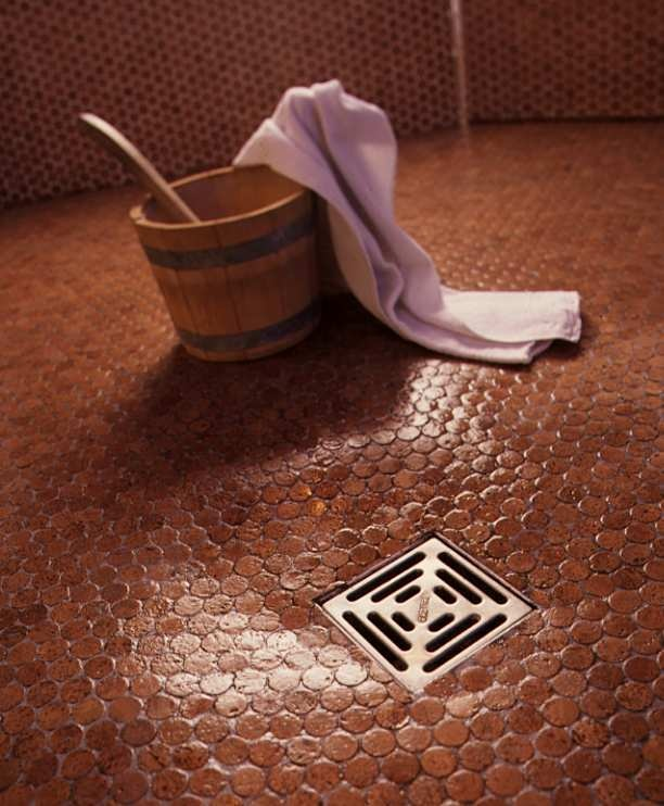 Cork mosaic tile for floors walls bathroom kitchen 1 for Warm feel bathroom floor tiles
