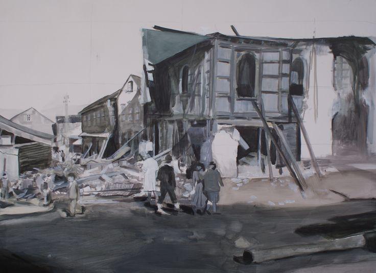 Ancud - Chiloé, 1960 acrílico sobre tela 120 X 150 cm