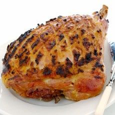 Baked Sugar-glazed Whole Gammon - I usually  cook this on Christmas Eve.