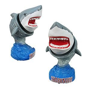 Morii/Dad -Memorialize the epic atmospheric event that is Sharknado with this bobblehead.