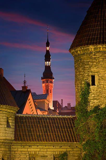 Town Hall and Town Wall, Tallinn, Estonia