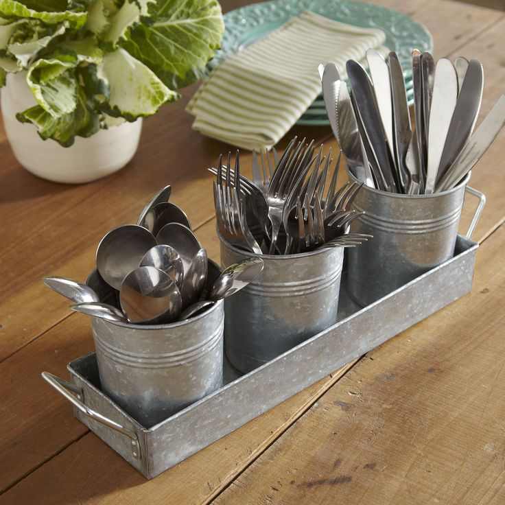 this is cute maybe with mason jars birch lane galvanized utensil caddy birch