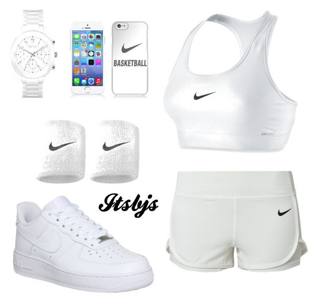 Nike/white/workout by itsbjs on Polyvore featuring polyvore, fashion, style, NIKE, Caravelle by Bulova and Samsung