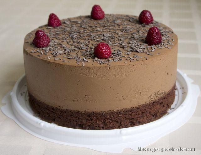 """Торт """"Облака в шоколаде"""" • Суфлейные торты, Птичье молоко"""