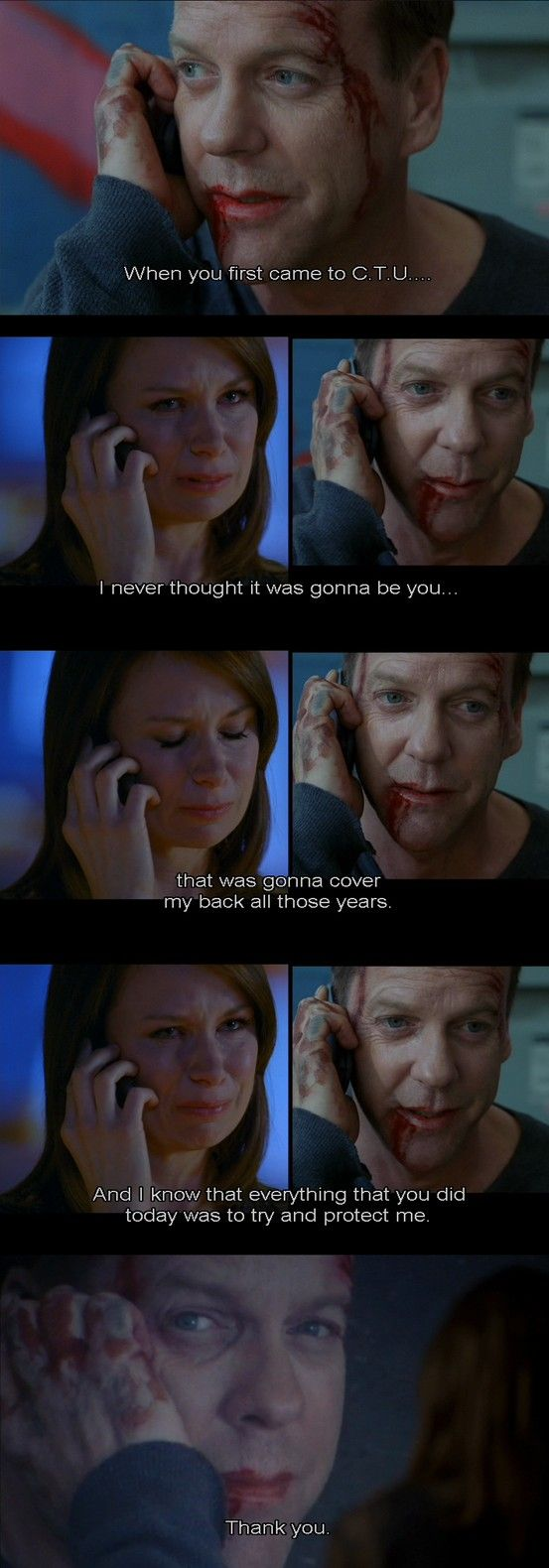 Jack Bauer and Chloe O'Brian; Season 8, the last scene of the series finale.