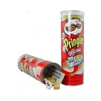 Can Safe-Pringles by Can Safe-Pringles. $10.88. Even has a top layer of chips covering the safe spotbottom of can unscrews for safe. Features include: made from a real pringles can factory sealed can top. Inside storage area measures 1.625-inch deep by 1.625-inch wide by 5-1/4-inch tall. Trademark Home Hide Your Money Pringles Can Diversion Safe