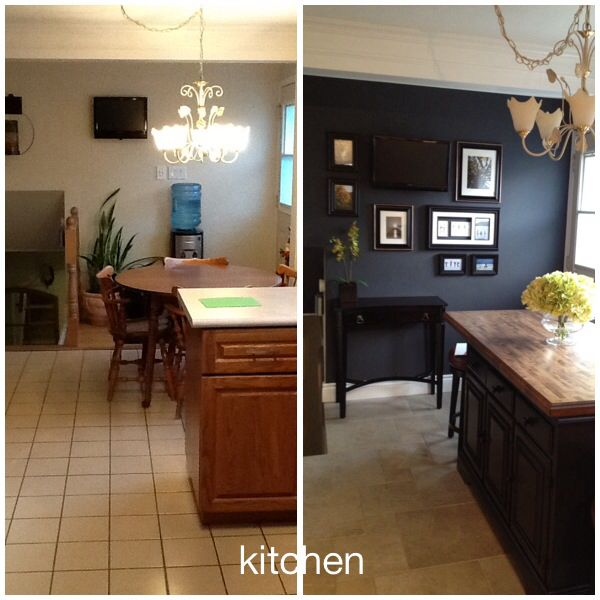 Kitchen accent tv gallery wall breakfast nook as - Recommended kitchen cabinet color ideas to update the room quickly ...