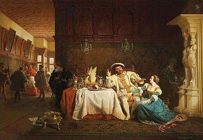 König Heinrich VIII. mit Anna Boleyn von Emanuel Gottlieb Leutze